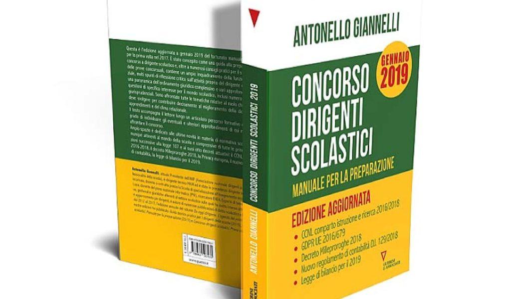 """In uscita: """"CONCORSO DIRIGENTI SCOLASTICI – Manuale per la preparazione"""" di Antonello Giannelli, Edizioni Guerini"""